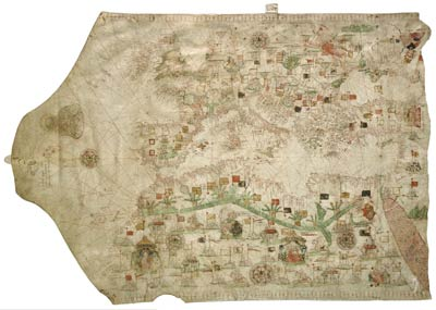 A sixteenth century portolan chart. Useful if you're not crossing the open sea. The oldest known is here.