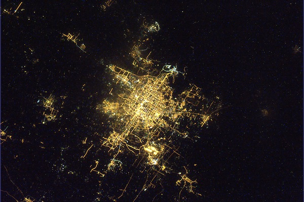 Beijing during Chinese New Year 2011, by Paolo Nespoli. (Credit: ESA/NASA) See more orbital pics.