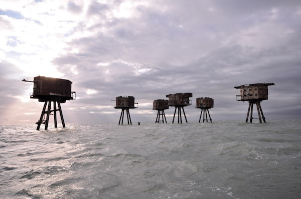 The Maunsell Sea Forts, UK. Image credit: Wevsky, 2013.