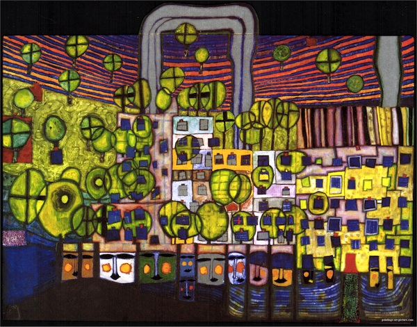 'The third skin' by Friedensreich Hundertwasser, 1982