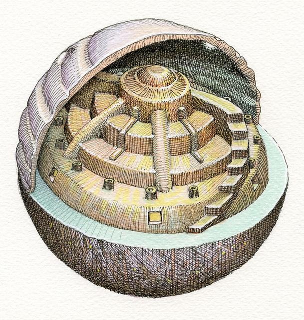 'Sphere Drawing 2011006' by Mark Nisenholt, 2011.