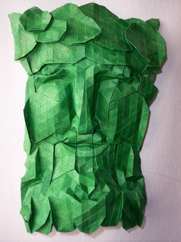 Green man/foliate head by Christine Edison, 2007.