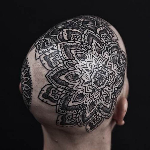 Blackwork mandala by Thomas Hooper.