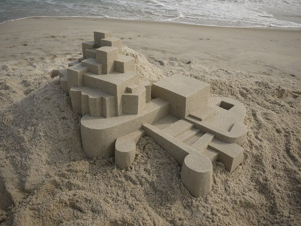 Sand castle by Calvin Seibert, 2012.